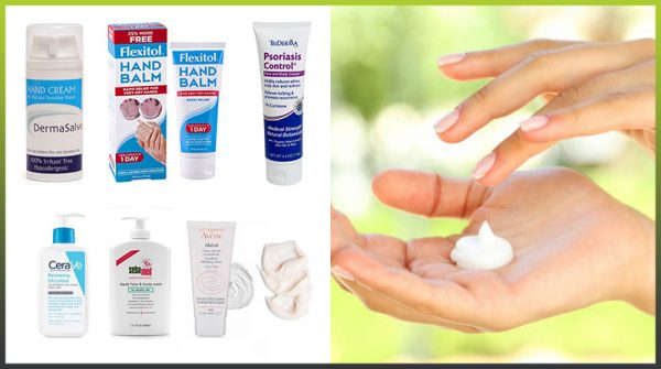 Hand creams for psoriasis